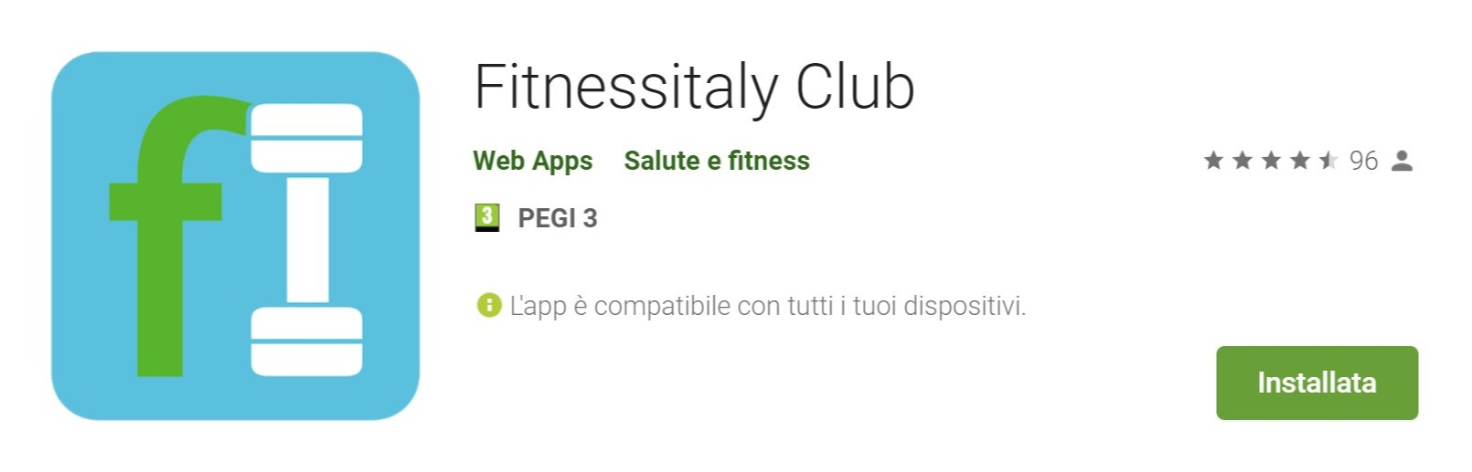 Screenshot of Fitnessitaly Club - App su Google Play